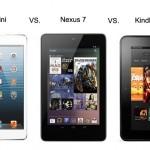 iPad Mini vs. Nexus 7 vs. Kindle Fire HD