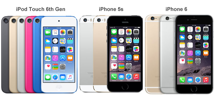 length of iphone 5s ipod touch 6th generation vs iphone 5s vs iphone 6 compared 5088